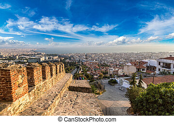 Trigonion tower in Thessaloniki, Greece in a summer day