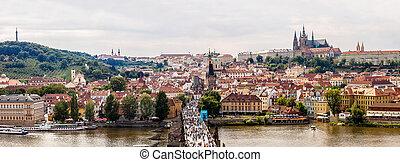 Charles bridge in Prague in summer