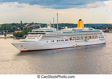 Big cruise ship in Stockholm