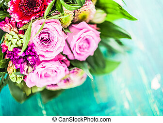 Colorful bouquet of fragrant flowers