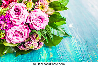 Fresh bouquet of fragrant flowers - Fresh bouquet of...
