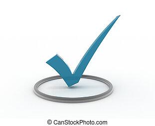 3D checkmark in chrome checkbox