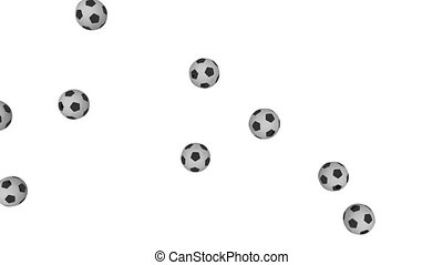 soccer ball - 3d animation of soccer ball
