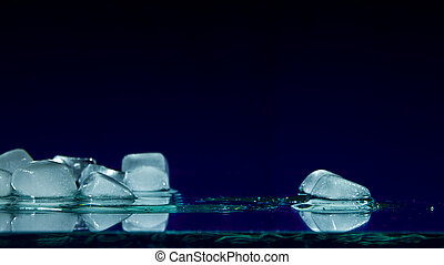 Pieces of melting ice
