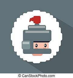 Videogame icon design - Videogame concept with pixel icon...