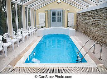 Indoor beautiful swiming-pool - Indoor beautiful empty...