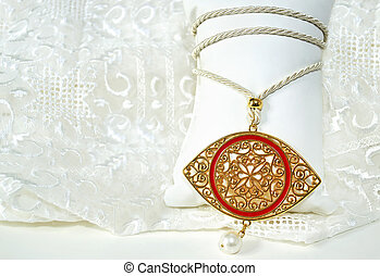 gold evil eye necklace - gold byzantine eye necklace -...