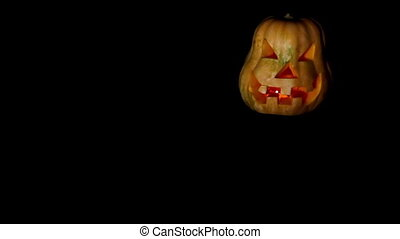 The Muzzle of a Pumpkin For Halloween - Muzzle carved...