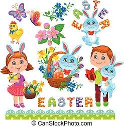 Easter set of design