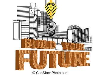 Haus bauen clipart  Clipart Vektor von haus, bauen, dein - Vector, abbildung, mit ...