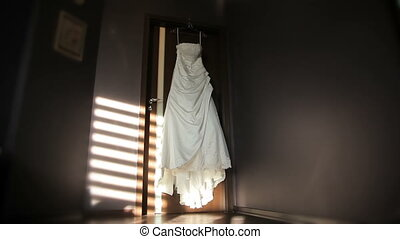 Wedding Dress in the Room - Panoramic shot of a room of a...