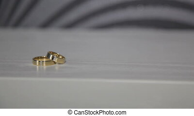 Wedding rings on the table - Wedding rings are on the table...
