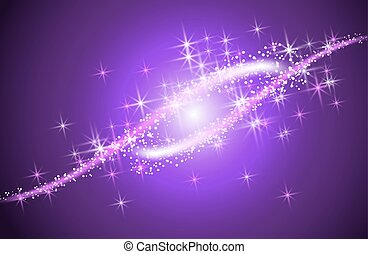 Glowing background with sparkle curved lines - Glowing...