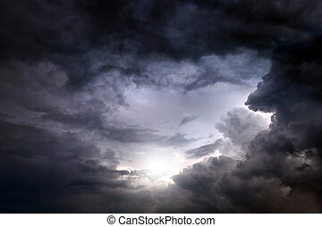 Dramatic Cloudscape Background - Dark and Dramatic Storm...