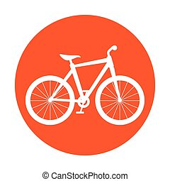 Bike and cyclism graphic design, vector illustration eps10