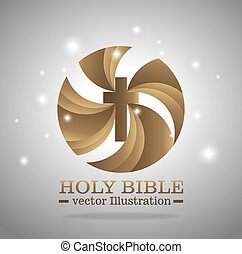 Holy bible book graphic design, vector illustration eps10