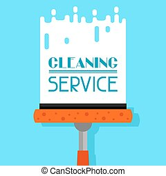 Housekeeping background with window cleaner Image can be...