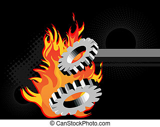 gears on fire