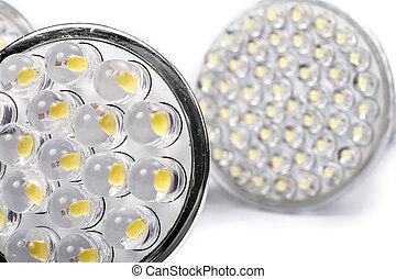 Led Light - Newest LED light bulb isolated on white...