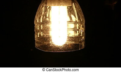 Moths Swarming A Light Bulb on night