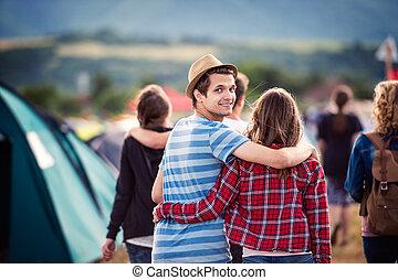 Teens at summer festival