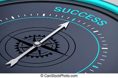 3D Compass. Success Word