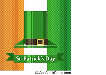 st patrick day irish flag - st patrick day vector banner...