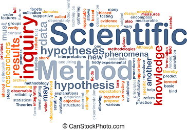 Scientific method background concept - Background concept...
