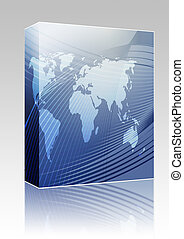 Map of the world illustration box package - Software package...