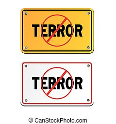 anti terror signs - suitable for signs and symbols