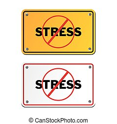 anti stress yellow signs - suitable for signs and symbols