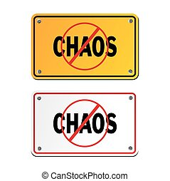 anti chaos signs - suitable for signs and symbols