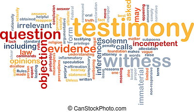Testimony evidence background concept - Background concept...