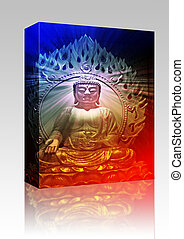Buddha illustration box package - Software package box...