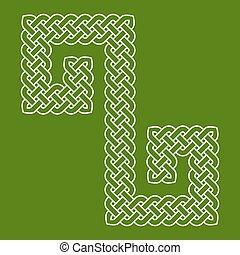 Celtic knot laid in an S shape curve, vector illustration