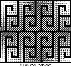 A seamless Celtic knots pattern
