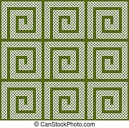A seamless Celtic knots pattern - A seamless pattern or...