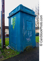 Police Public Call Box, disused. - Old derelict disused...