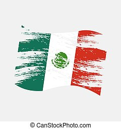 mexico color national flag grunge style eps10
