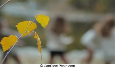 Yellow leaves and dancing girls