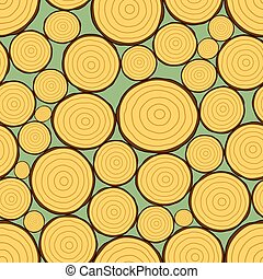 Firewood pattern - Seamless pattern of the firewood stack