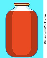 Jar - Illustration of the glass jar icon