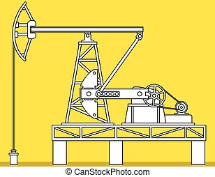 Pumpjack - Illustration of the oil pumpjack derrick icon
