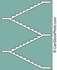 Staircase - Illustration of the staircase fliers icon
