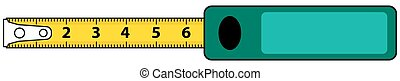 Tape measure - Illustration of the tape measure icon