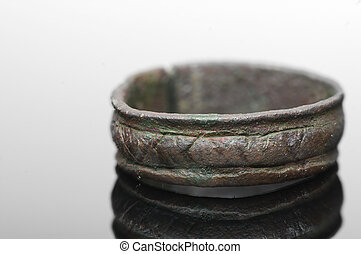 Medieval ring with runic letters