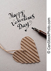 HAPPY VALENTINES DAY hand lettering - handmade calligraphy -...