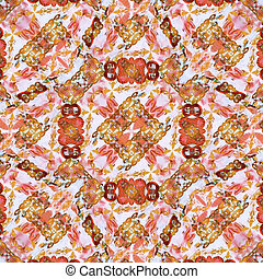 Refined Modern Baroque Seamless Pattern - Digital collage...