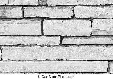 White slate stone wall