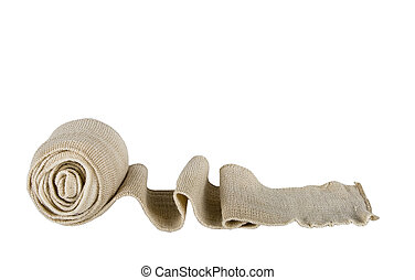 elastic bandage against the white background
